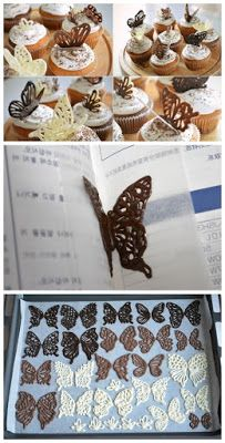 """Want to make """"CHOCOLATE BUTTERFLIES"""" Here How do I make CHOCOLATE BUTTERFLIES"""
