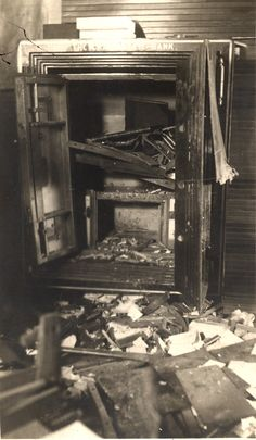 HISTORIC PIC - In the early morning hours of May 19, 1909, at approximately 1:45 a.m. citizens of Cairo were awoken to the sound of a loud explosion. Burglars were blowing open the safe of the Cairo State Bank with nitroglycerine. Entrance to the bank was made through the front door and the telephone wires cut. The robbers made off with over $6300 in cash. Three men, Phil Hess, Bert Axtell, and Claud Perkins, were arrested for the robbery.