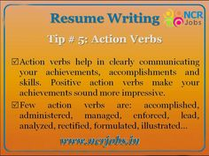 #Resume Wriing #Tips #5.   www.ncrjobs.in