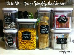 :: simply free ::: 30 in 30 - How to Simplify the Clutter!