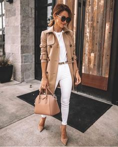 35 Fall Outfits Ideas For Women Street Style ; fall outfits for women 35 Fall Outfits Ideas For Women Street Style Casual Work Outfits, Business Casual Outfits, Mode Outfits, Classy Outfits, Stylish Outfits, Outfit Work, Business Attire, Office Attire Women, Summer Office Outfits