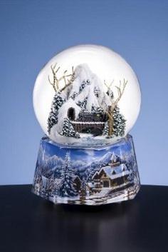 Amazon.com: Train Through Mountain - Water Globe: Home & Kitchen Christmas Snow Globes, Christmas Holidays, Chrissy Snow, Musical Snow Globes, Water Globes, Soap Bubbles, Snow Mountain, Glass Globe, Glass Ball