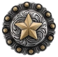 "Western Equestrian Cowboy//Cowgirl Decor ~Coloma Gold~ Berry Concho 1-3//4/"""