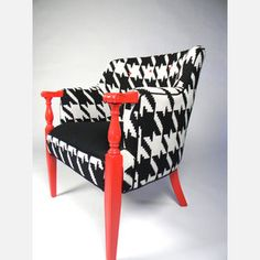 awesome chair, hmmm i have considered a black white and red living room...oh how perfect this would be