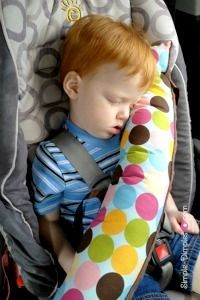 Making Pillows For Kids and Adults seat belt pillow.
