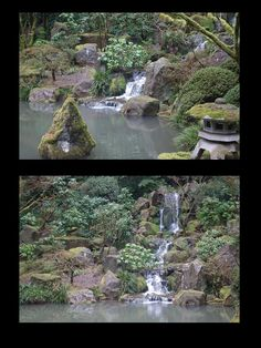Portland Japanese Garden - lower pond and falls
