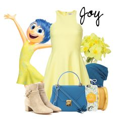 """""""Joy - Spring - Disney Pixar's Inside Out"""" by rubytyra ❤ liked on Polyvore featuring Pavilion Broadway, Keds, Stephanie Kantis, Elizabeth and James, Casetify, Mark Cross, Gianvito Rossi, women's clothing, women and female"""