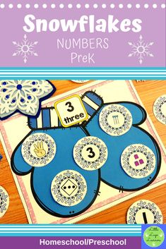 These Snowflake Number Lessons are the perfect addition for Math Centers for homeschool/ preschool. This time saving, leveled resource is engaging with its vibrant pictures and stimulating content! Your multi-aged 4-6 year old children will enjoy learning about the Snowflake and numbers with these interactive lessons. Numbers Preschool, Preschool Math, Preschool Winter, Morning Activities, Number Activities, Dramatic Play, Elementary Math, Literacy Centers, Snowflakes