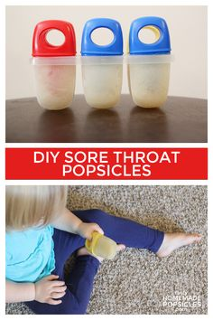Kids Health Help your little ones feel better fast with these sore throat popsicles. - Try these simple popsicles the next time your kids have a sore throat and they will feel better in no time! Leyla Rose, Sick Baby, Sick Kids, Sick Toddler, Kids Fun, Just In Case, Just For You, Homemade Popsicles, My Bebe