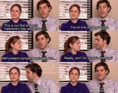 Jim & Pam on cupid's birthday