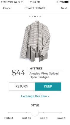Stitch Fix Mystree Angelos Mixed Striped Open Cardigan Fall Spring 2017 Stitch Fix https://www.stitchfix.com/referral/7417331?sod=w&som=c