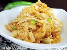 Tăiţei cu varză (murată sau dulce) Romanian Food, Cabbage, Clean Eating, Cooking Recipes, Vegetables, Ethnic Recipes, Paste, Memories, Get Lean