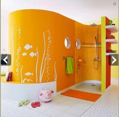 douche a l italienne dans chambre enfant leroy merlin - Salle De Bain Enfant Coloree