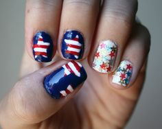 Star Spangled Nails from It's Because I Think Too Much