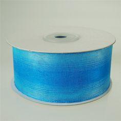 Two Tone Chiffon Organza Ribbon, 1-1/2-inch, 25-yard, Blue/Light Blue