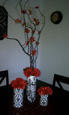 Damask Wedding Centerpieces with Red   wedding dress with straps christmas wedding clip art wedding table ...