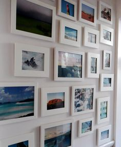 photo gallery - really like the color prints with the white frames