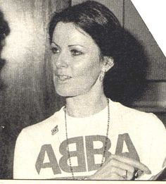 Anni-Frid looking hot in an ABBA t-shirt Music Like, Kinds Of Music, Pop Music, Narvik, Abba Mania, Two Year Olds, Popular Music, Metalhead, Greatest Hits
