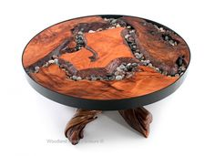 Round River Runs Through It Coffee Table by Woodland Creek