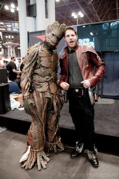 Groot and Star Lord, Guardians of the Galaxy, photo by Ron Gejon Photography.
