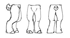 how to draw faun legs - Google Search