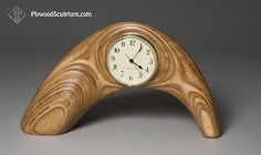 "Plywood Sculpture …Mantle Clock…12x8x5"" #clock"