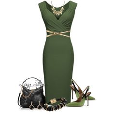 A fashion look from October 2014 featuring Miusol dresses, pumps and Henri Bendel shoulder bags. Browse and shop related looks. Dressy Outfits, Mode Outfits, Stylish Outfits, Ladies Outfits, Stylish Eve, Work Fashion, Fashion Looks, Fashion Beauty, Jw Mode