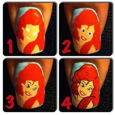 Quick little tutorial on how to do Ariel nail art