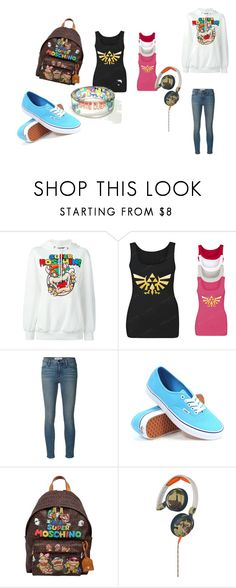 """Gamer Girl"" by misspinkdragon ❤ liked on Polyvore featuring Moschino, Frame Denim, Vans and Skullcandy"