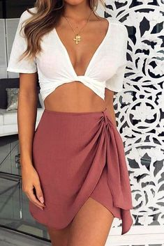 Skirt outfits summer - 35 Cute Girly Fashion Outfits Ideas For Summer – Skirt outfits summer Cool Summer Outfits, Girly Outfits, Spring Outfits, Trendy Outfits, Cute Outfits, Fashion Outfits, Womens Fashion, Casual Summer, Summer Clothes