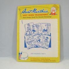 Vintage Aunt Marthas Hot Iron Transfer  by VintageCreekside, $4.50