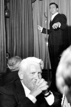 Spencer Tracy at Bobby Darin performing