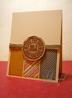 Anyone still trying to come up with a Father's Day card out there? Here is a nice one from Tobi Crawford. She created the circle with the Dad Seal stamp set from TechniqueTuesday.com.