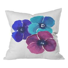 Shop AllModern for DENY Designs Jewel Tone Pansies by Laura Trevey Throw Pillow - Great Deals on all  products with the best selection to choose from!