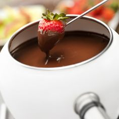 An even better chocolate fondue recipe. The only thing the recipe forgot is to try a few grains of sea salt sprinkled on top of your chocolate-dipped goodie!