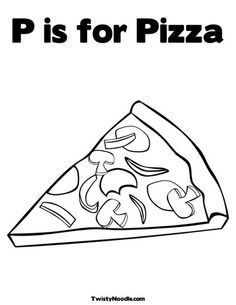Pizza Coloring Page Coloring worksheets Worksheets and Kindergarten