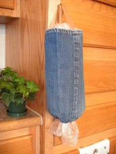 Kitchen HelperHanging Plastic Bag by TheModestMaiden on Etsy