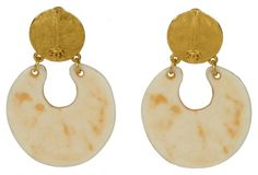 Chanel Bone-Colored Dangle Earrings    $749