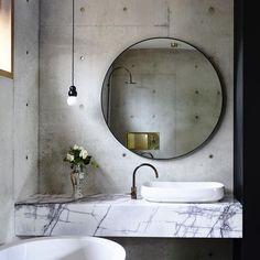 idée déco pinterest salle de bain vasque-marbre-design-indus