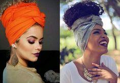 turbantes em cabelos cacheados e curtos