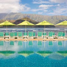 Pool and view at St. Regis Princeville in Kauai