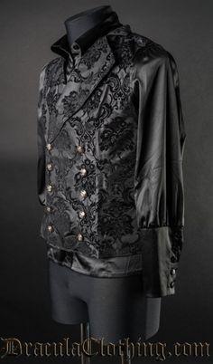 Black Jacquard Double Buttoned Vest