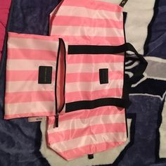 Victoria Secret bags- perfect for summer 2 VS bags never before used Victoria's Secret Bags Cosmetic Bags & Cases