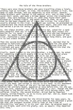 The Tale of The Three Brothers - Harry Potter and the Deathly Hallows. Harry James Potter, Harry Potter Deathly Hallows, Harry Potter Books, Deathly Hallows Story, Lord Voldemort, Hogwarts, Slytherin, Movies Wallpaper, Be My Hero