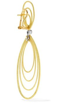Buccellati - Hawaii Waikiki 18-karat Yellow And White Gold Earrings - one size