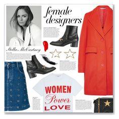 """Female Fashion Designers Rule!"" by myduza-and-koteczka ❤ liked on Polyvore featuring STELLA McCARTNEY, Anja and Burberry"