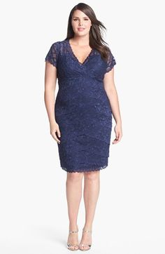 MARINA Tiered Lace Dress (Plus Size) available at #Nordstrom  comes in lavendar!