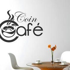 Sticker mural cuisine : sticker coin café