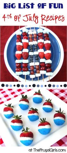 BIG List of Fun 4th of July Recipes! ~ from TheFrugalGirls.com ~ these recipes and party food ideas are perfect for your patriotic parties this summer! #4thofjuly #thefrugalgirls