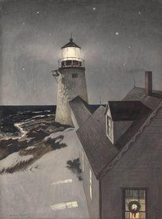 "laclefdescoeurs: "" Snowy Morning, 1947, Andrew Wyeth """